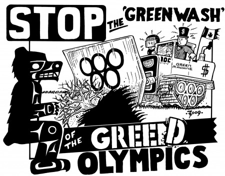 Vancouver 2010 Stop the Greed. Artist – ZigZag